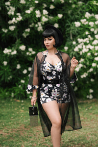 Eartha Playsuit Set in Floral Print