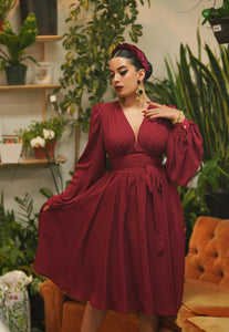 Zelda Dress (Burgundy)