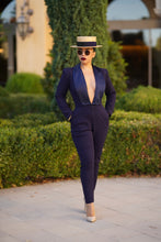 Load image into Gallery viewer, Dietrich Jumpsuit (Navy)