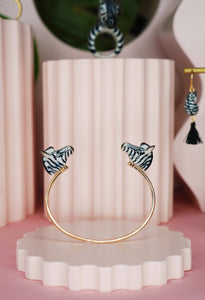 Kissing Zebras Bracelet