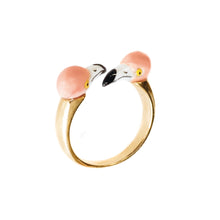 Load image into Gallery viewer, Kissing Flamingos Ring
