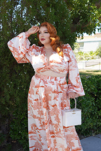 Harlow Set in Toile Print