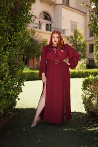 Phedra Dress in Oxblood