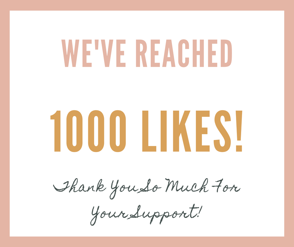 Yayyy! We're Reached 1000 Likes On Facebook!
