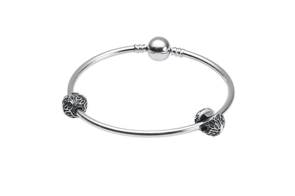 Silver Bracelet with 2 Spacers Beads - The Peace Of God