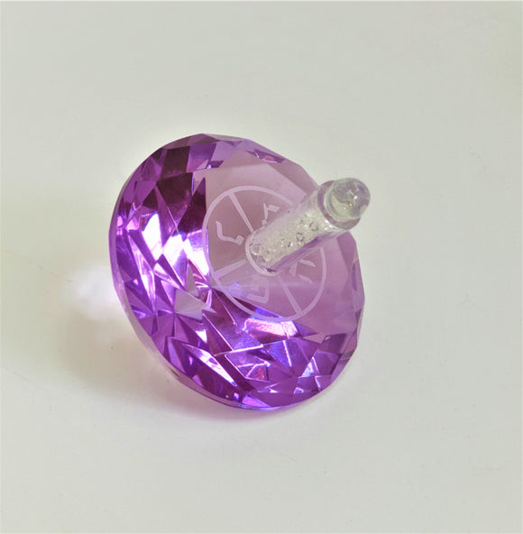 Crystal Dreidel 6 cm - Purple
