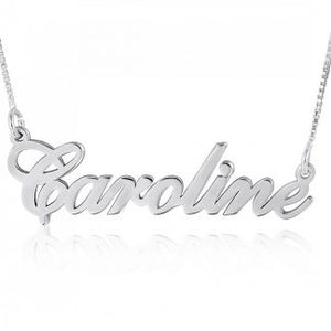 Sterling Silver English Script Name Necklace