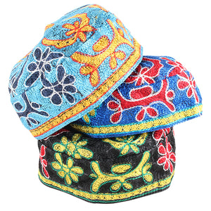 """Bukharian"" Kippah Machine Made 50 - Assorted colors"