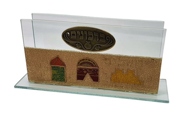Glass Bencher Stand Jerusalem Bronze