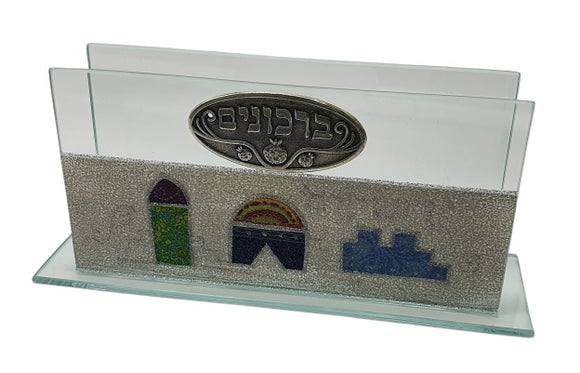 Glass Bencher Stand Jerusalem - Gray