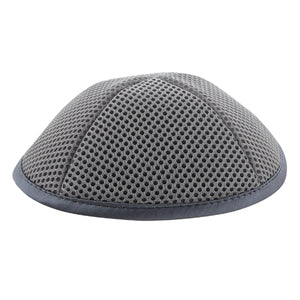 Net Kippah 19cm- with Pin Spot- Gray