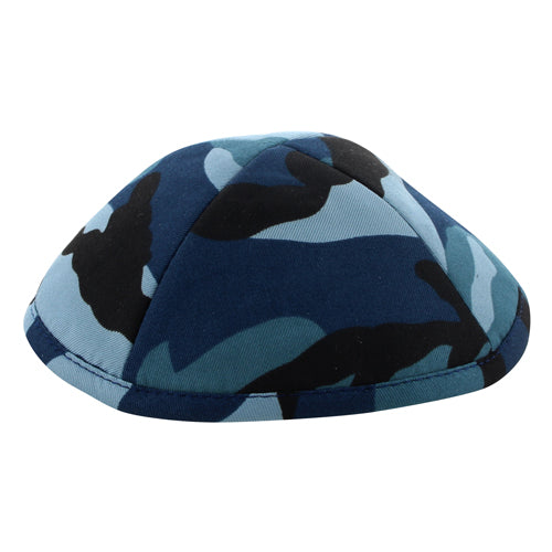 Kippah 19cm- Camouflage Blue Colors