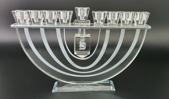 Rainbow Crystal Menorah with Dreidel