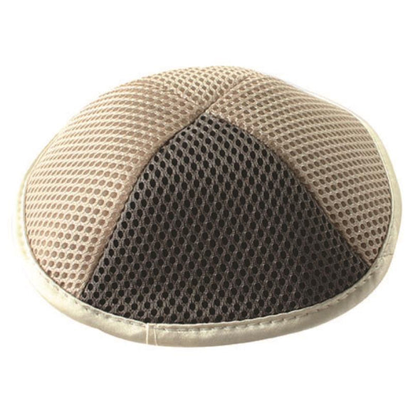 Net Kippah 18cm - with Pin Spot - Beige