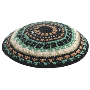 C Knitted Dmc Kippah 12 cm - Colorful - I