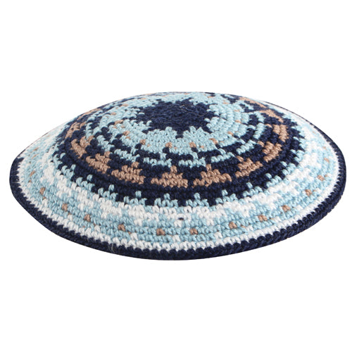 C Knitted Dmc Kippah 12 cm - Colorful II