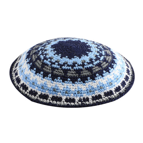 C KNITTED DMC KIPPAH 16 CM- COLORFUL