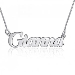 Sterling Silver English Name Necklace