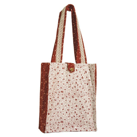 Book Bag - Thick - White/Red