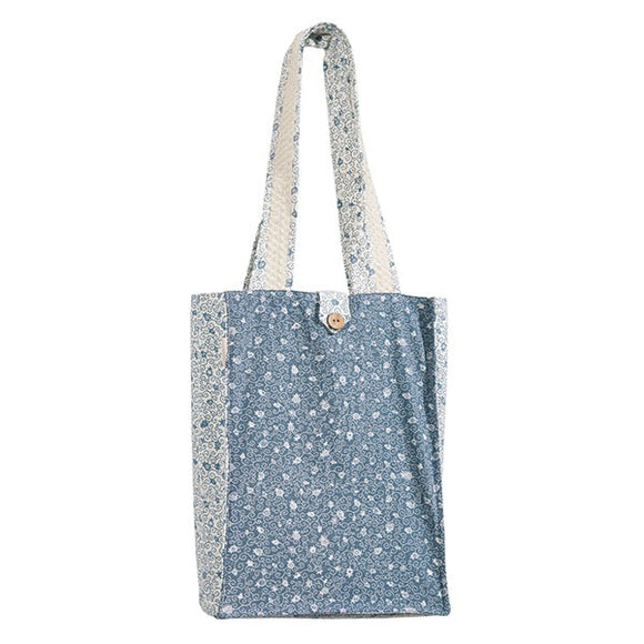 Book Bag - Thick - Blue/White