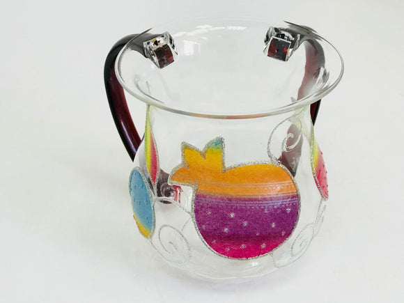 Acrylic Multicolored Pomegranate Washing Cup
