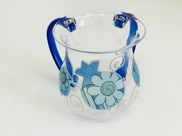 Acrylic Flower & Pomegranate Washing Cup