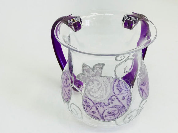 Acrylic Purple Pomegranates Washing Cup