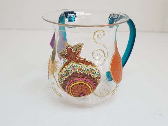 Acrylic Multicolored Pomegranates Washing Cup