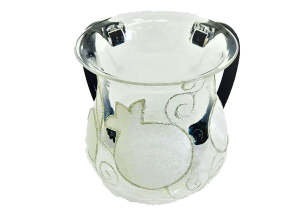 Acrylic White Pomegrantes Washing Cup