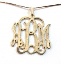 Gold-Plated Sterling Silver Monogram Necklace (Style 1)