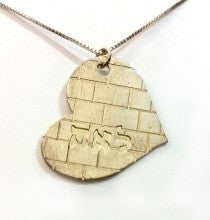 Gold Plated Kotel Heart Necklace