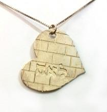 Gold-Plated Silver Kotel Heart Name Necklace