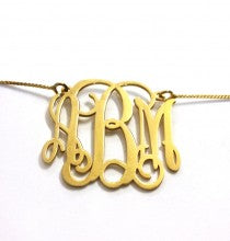 Gold-Plated Sterling Silver Monogram Necklace (Style 2)