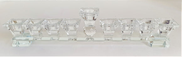 Natural Crystal Menorah 41 x 15 cm