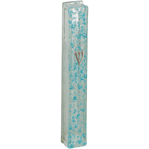 Mezuzah 12cm Dark Brown Color- Semi Round