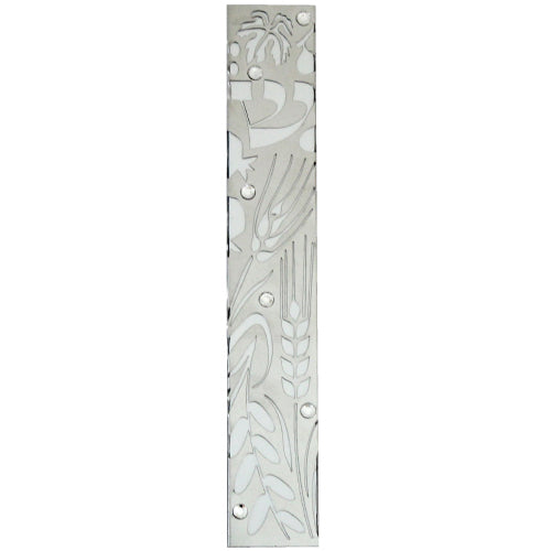 Aluminium Mezuzah 15cm- with Decorative Plaque