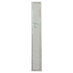 White Mezuzah 15 cm- Pomegranate