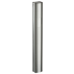 "Aluminium Mezuzah 12cm- Dotted Design in Gray, with the Letter ""Shin"""