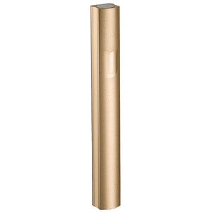 "Aluminium Mezuzah 15cm- Dotted Design in Gold, with the Letter ""Shin"""