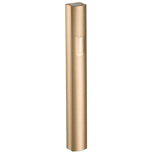 Aluminium Mezuzah 15cm- Dotted Design in Gold, with the Letter