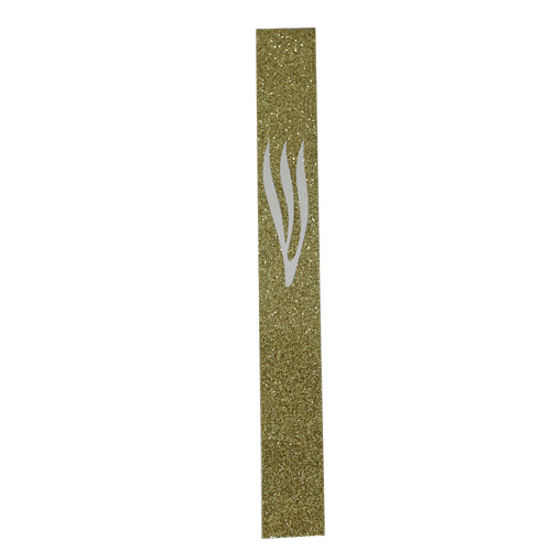 Glass Mezuzah 15cm, Silicon Cork
