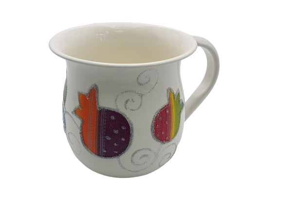 Small Pomegranate Washing Cup - Multicolored
