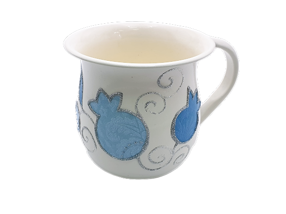 Small Pomegranate Washing Cup - Pale Blue