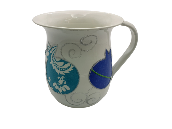 Large Pomegranates Washing Cup - Blue