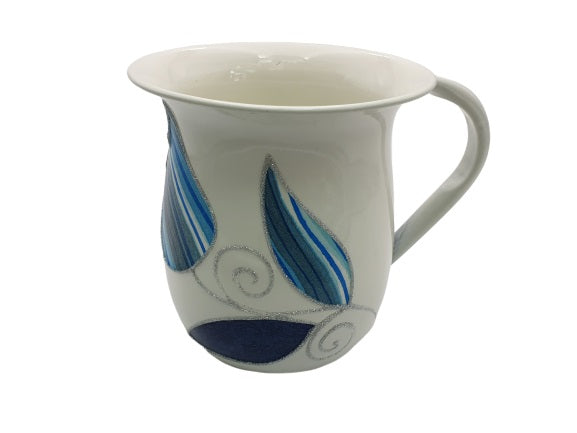 Large Tulips Washing Cup - Blue