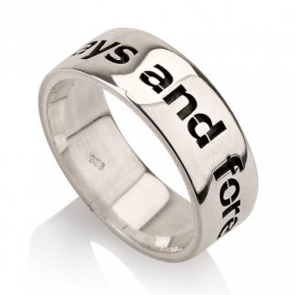 Sterling Silver English Engraved Personalized Flat Ring