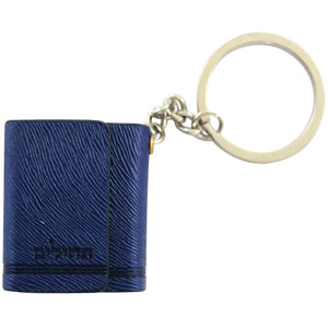 Tehillim Keychain 3.5cm- Faux Leather with Magnet - Blue