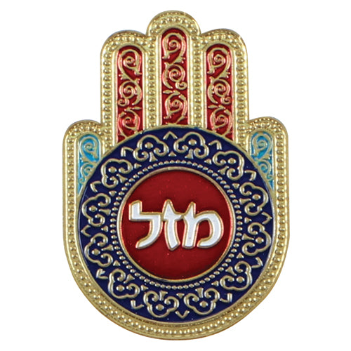 Metal Hamsa Magnet 3.8*5.6cm, Multicolored- Mazal