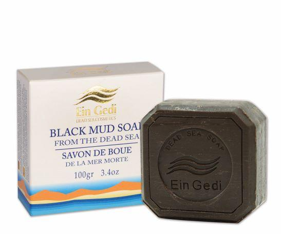 Dead Sea White Collection Black mud soap -100 gr. - The Peace Of God