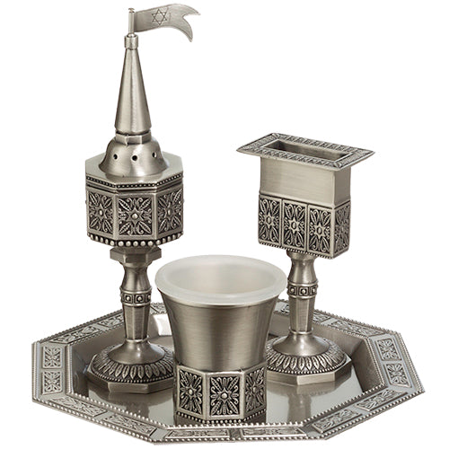 Pewter Havdalah Set 3 PCS